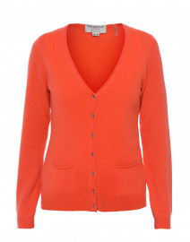 Orange Cashmere Cardigan