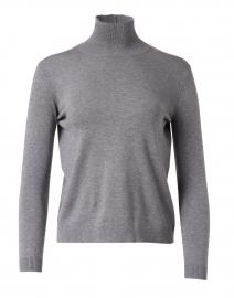 Grey Silk Wool Blend Sweater