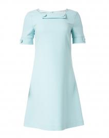 Muriel Aqua Wool Crepe Dress