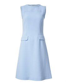 Kitson Ice Blue Wool Crepe Dress