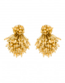 Gold Burst Clip Earrings
