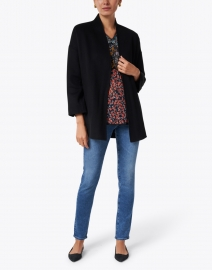 Kinross - Black Wool and Cashmere Coat