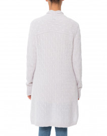 Cortland Park - Sophie Light Grey Cable Knit Cashmere Cardigan