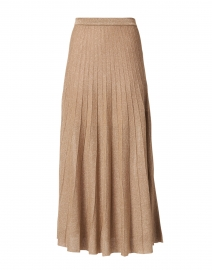 Champagne Pleated Knit Lurex Skirt