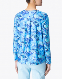 Leggiadro - Blue Palm Printed Jersey Tee
