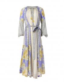 Irina Periwinkle Floral Cotton Voile Dress