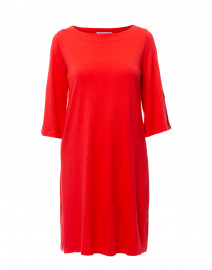 Isabel Red Bamboo Cotton Swing Dress