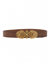 Tzar Khaki Leather Belt
