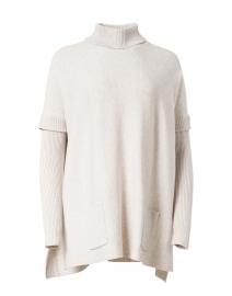 Oatmeal Layered Turtleneck Sweater