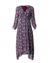 Tyler Maroon and Blue Paisley Print Dress
