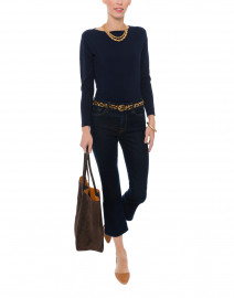 Blue - Navy Pima Cotton Sweater