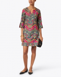 Jude Connally - Megan Red and Green Medina Paisley Printed Dress