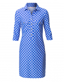 Sloane Sapphire Link Printed Henley Dress