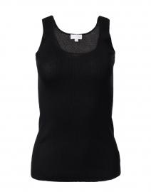 Black Silk Cashmere Rib Tank