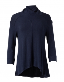 Navy Cotton Thermal Sweater