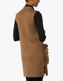 Kobi Halperin - Hailee Camel Wool and Faux Fur Vest