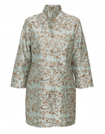 Rita Green Gold Floral Embroidered Silk Jacket