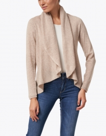 Repeat Cashmere - Sand Cashmere Circle Cardigan