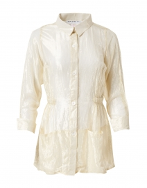 Gold Lame Button Down Topper Jacket