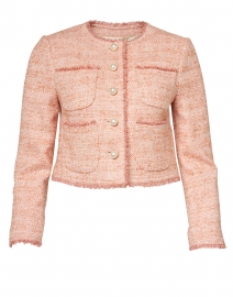 Celeste Pink Cotton Tweed Jacket