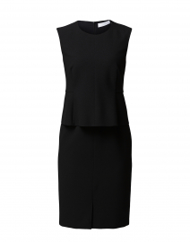 Depeplar Black Stretch Peplum Dress
