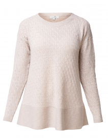 St. Tropez Beige Cable Knit Cashmere Sweater