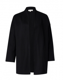 Black Wool and Cashmere Coat