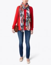 Kinross - Valencia Orange Garter Stitch Cotton Sweater