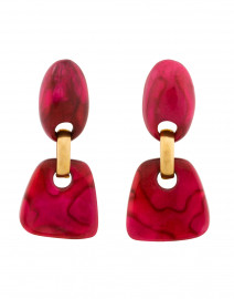 Chloe Fuchsia Resin Drop Clip On Earrings