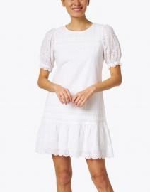 Sail to Sable - White Cotton Eyelet Dress