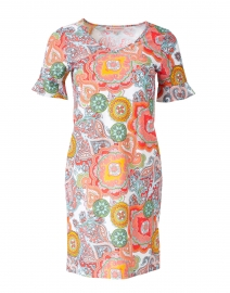 Nina Coral Paisley Printed Dress