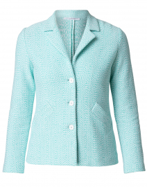 Cerchio Green and White Linen Cotton Jacket
