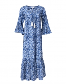 Blue Floral Print Prairie Dress