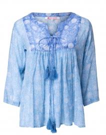 Seychelles Light Blue Amelia Print Cotton Tunic