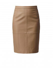 Seltoni Beige Leather Pencil Skirt