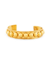 Gold Studded Small Cuff Bracelet