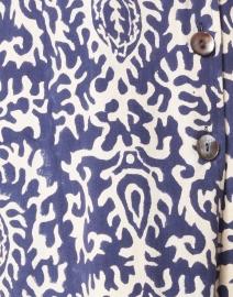 Lisa Corti - Renu Blue Suzani Damask Print Cotton Coat