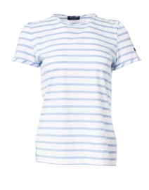 Villefranche White and Denim Blue Striped Top