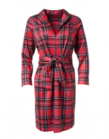 Draper Red Tartan Plaid Tie Waist Dress