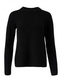 Black Cashmere Shaker Sweater