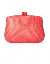 Blair Coral Straw Woven Clutch