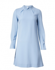 Elodie Ice Blue Wool Crepe Tunic Dress