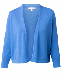 Priscilla Periwinkle Blue Cropped Cotton Cardigan