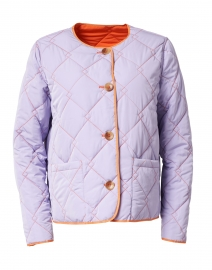 Lavender and Orange Reversible Quilted Short Jacket