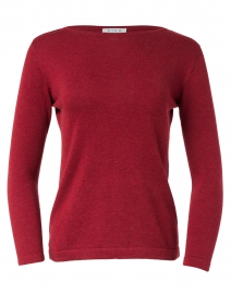 Russet Red Pima Cotton Boatneck Sweater