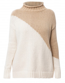 The Summit White and Beige Cotton Sweater