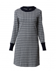Morris Navy Houndstooth Printed Dress