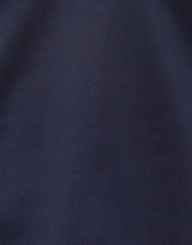 Gretchen Scott - Navy Ruffle Neck Top