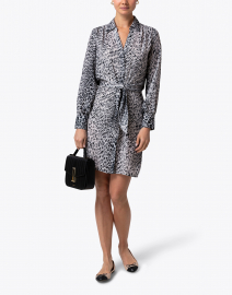 Madsen Black and White Leopard Printed Dress