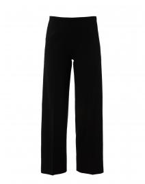 Amandine Black Stretch Wool Wide Leg Pant
